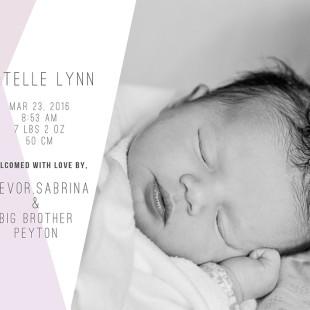 Whistler newborn announcement